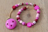 Nuggikette rosa mit Name